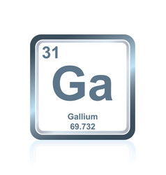 Chemical element gallium from the periodic table vector
