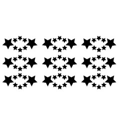 Collection star on white background vector