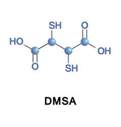 dimercaptosuccinic acid dmsa called succimer vector image