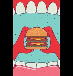 Eating burger vector