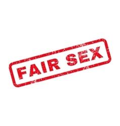 Fair sex text rubber stamp vector