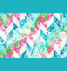 Geometric abstract pattern with colorful modern vector