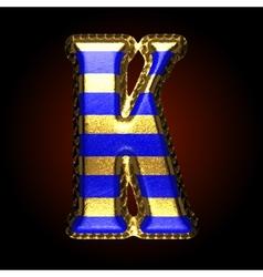 golden and blue letter k vector image