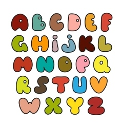Hand drawn alphabet made in vector image