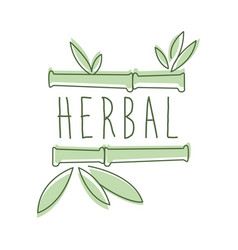Herbal logo symbol vector