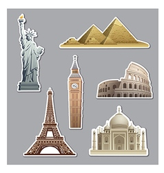 landmarks stickers vector image vector image