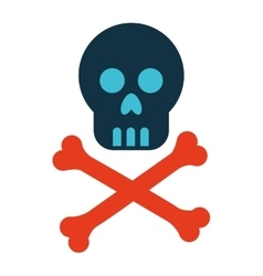 Mask skull bones danger symbol icon vector