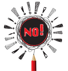 no red pencil idea on white isolate background vector image