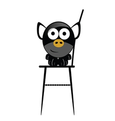 piggy in the chair vector image