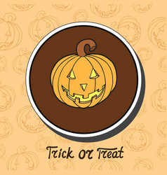 pumpkin on halloween background vector image vector image
