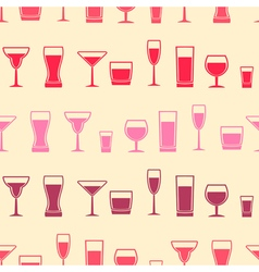 Seamless background with glasses vector image