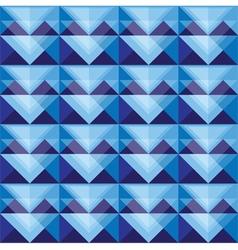 Seamless blue triangle pattern design vector