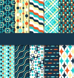 Set of 10 seamless bright abstract patterns vector image vector image