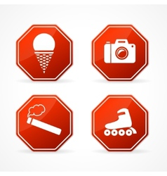 Sign forbidden on white background vector image