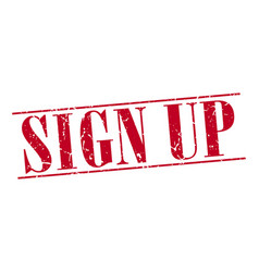 Sign up vector