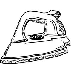 steam iron vector image