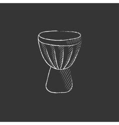 Timpani drawn in chalk icon vector