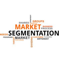 Word cloud - market segmentation vector
