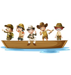 Young explorers vector image vector image