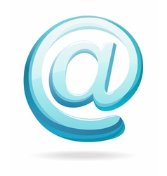 Email sign vector