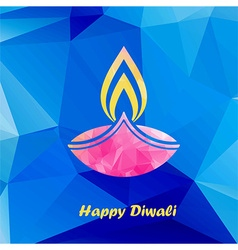 Diwali traditional festive lamp vector