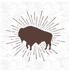 Symbol of buffalo vector image