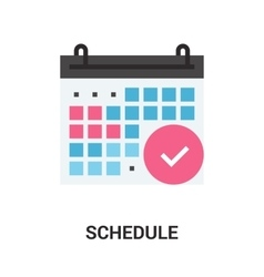 Schedule icon concept vector