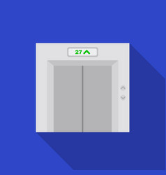 elevator icon in flat style isolated on white vector image