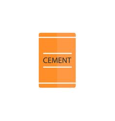 Cement bag flat icon build repair elements vector