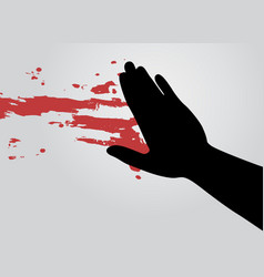 Blood art hand vector