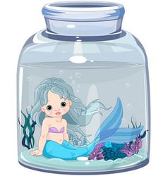 mermaid in the jar vector image