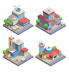 1606i125001Sm003c11hospital isometric vector image