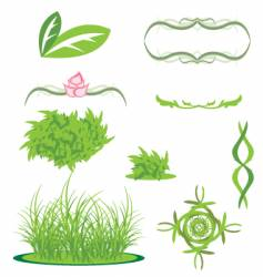 grass and greenery vector image
