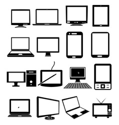 Mobile devices icons set vector
