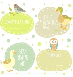 Birds stickers vector