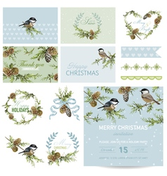 Scrapbook design elements - christmas theme vector