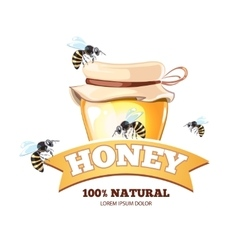 Apiary emblems vector