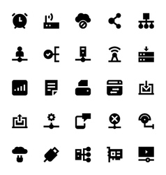 Network technology icon 3 vector