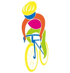 Cycling icon in colors vector