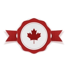 Canada patriotic banner with ribbon vector