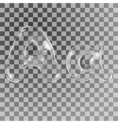 Bubbles letters a vector