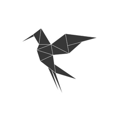Bird icon Origami design graphic vector image vector image