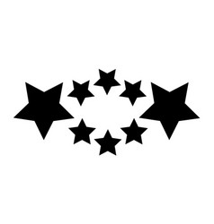 Black star style background vector