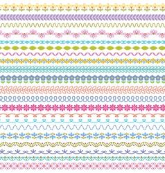 border patterns vector image vector image