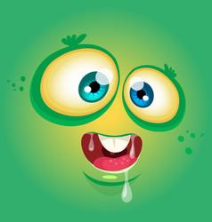 Cartoon funny monster face avatar vector