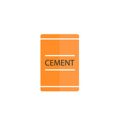 Cement bag flat icon build repair elements vector
