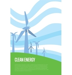 Clean energy banner wind power generation vector