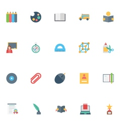 Flat education icons 6 vector