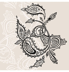 Hand drawn paisley ornament vector