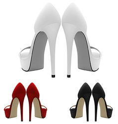 High-heeled blank shoes template vector image vector image